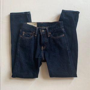 A&F Abercrombie Kids Skinny Dark Blue Jeans
